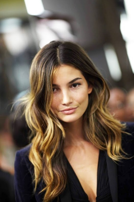 lily-aldridge-ombre-hair